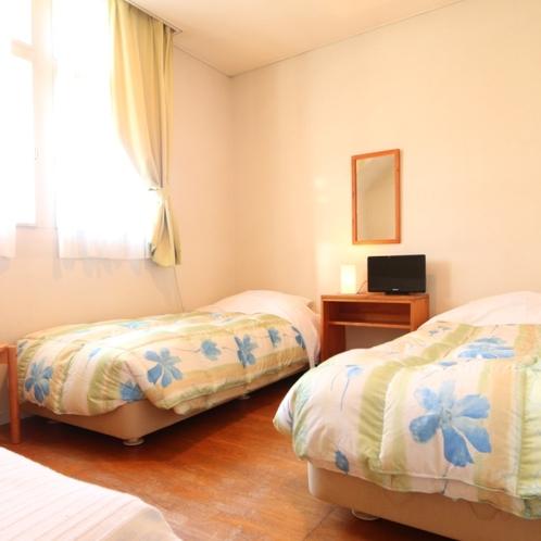 温かな雰囲気のツインルーム(客室205)