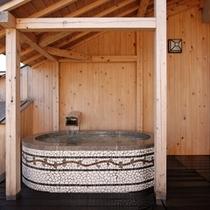 【客室露天風呂】お好きなときにいつでもお入りいただける客室露天風呂です!