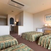 【4ベッド】42.8平米で1部屋にベッドが4つあります!ファミリーや女子会におすすめです。
