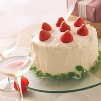 【アニバーサリープラン特典】4号サイズのケーキをご用意♪無料でメッセージプレートをお付けします♪