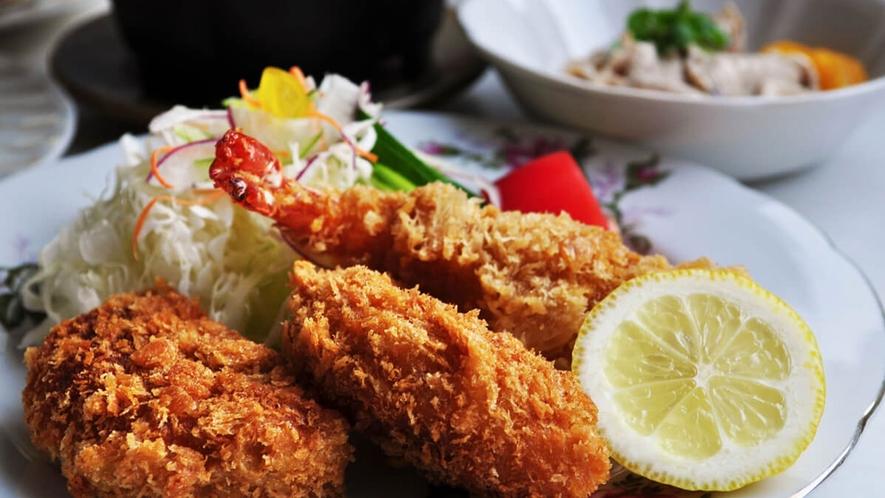 【グレードアップ洋定食】色どり豊かなお食事をご用意しております♪