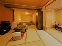 【デザイナーズ和洋室】8畳和室+洋室ツインベッドビューバス付