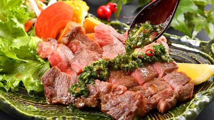 【牛ステーキ】【セットでお得】外国産牛ステーキ付き なぎさコース