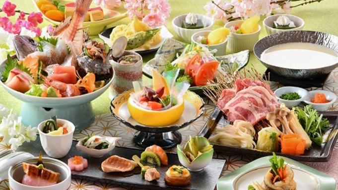 【ご夕食ランクアップ】旬の魚介・味覚を使った能登の里海会席