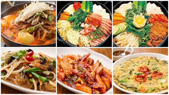 ランチやディナーに韓国料理!オムニ食堂の選べるセットメニュー付きプラン(食事なし)