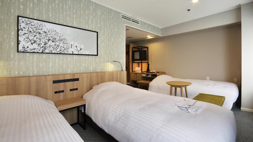 【ツインルーム】大人3名様でのご宿泊時はソファーベットを追加でご用意致します。