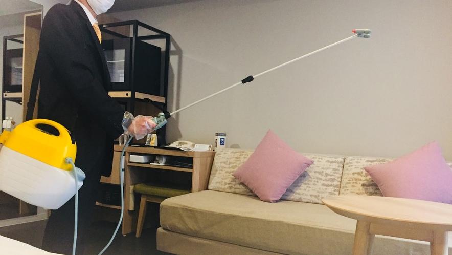 客室の清掃及び消毒を強化しております。