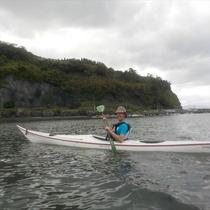 錦江湾で初めてのシーカヤック体験