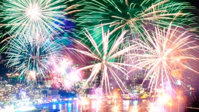 【お部屋で見る大迫力の花火に感動!プライベート満喫!】大スペクタル!◆熱海花火大会◆お部屋食