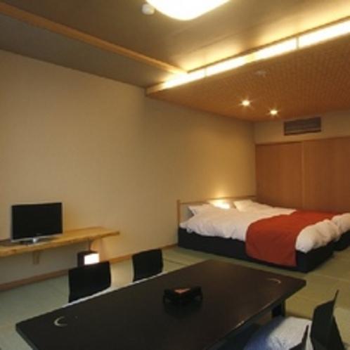 コンフォート和室は低めの和ベッドをご用意(街側ロケーション)