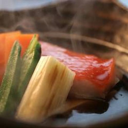 コースでご用意した金目鯛の煮付けは少しの量でも大満足♪人気の一品です。