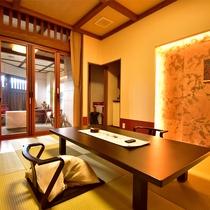アジアンテイスト溢れる異空間。一晩中客室露天を楽しめる人気のお部屋【珊瑚-sago-】
