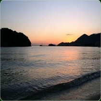 仙酔島 夕陽