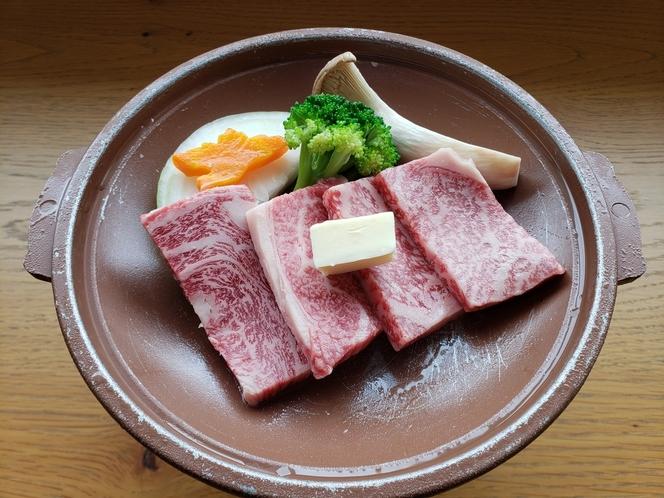 上総和牛(A4)陶板焼き