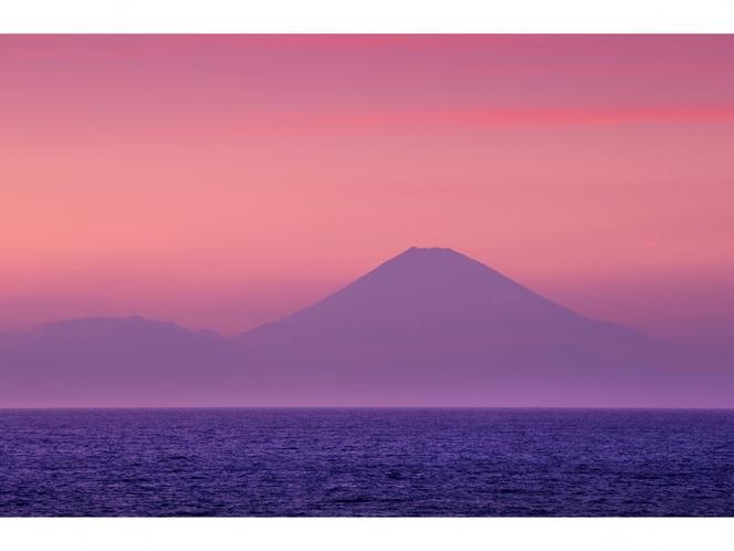 夕日写真(富士山)