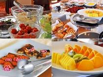 【朝食バイキング】和食から洋食まで、種類豊富に取り揃えております