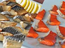 【朝食バイキング】和食にもご対応 焼き鮭 焼き塩サバ