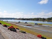 【施設周辺】由利本荘市ボートプラザアクアパル:ボート競技が観戦できます