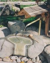 水と緑と潤いのある公園にある飲泉所