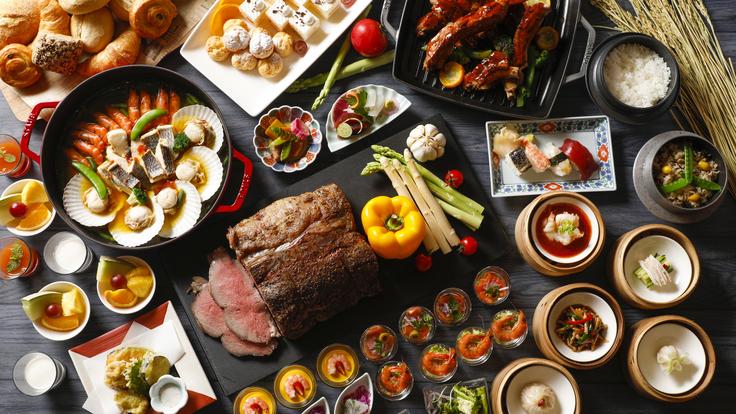地産地消にこだわった和洋中の厳選されたお料理の数々。