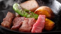 飛騨牛はお好みの焼き加減でお召し上がりください。