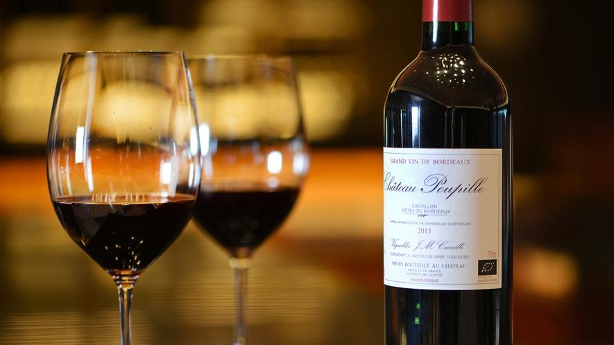 お料理に合うワインはソムリエにお尋ねください。