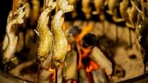 炭火でじっくり焼き上げるから骨までおいしい「鮎の塩焼き」