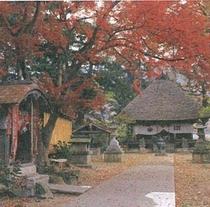 「十一面観音」のある智識寺の紅葉