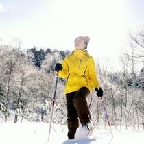 *【石の湯の庭】霧氷の森を独り占め♪スノーシューの貸し出しもあり!あなたもこの冬スノーシューデビュー