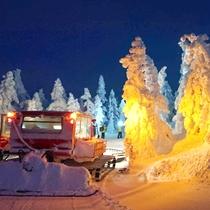*横手山のスノーモンスター/夜は幻想的な世界が広がります!お日にち限定でナイトツアーも開催します!