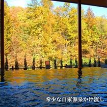 【展望露天風呂】秋の景色