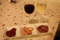 燻製とグラスワイン