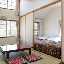 *レモンバーム/シングルベッド4台と6畳和室のお部屋です。ご家族連れにおすすめ。
