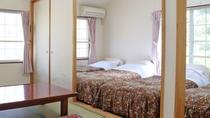 *レモンバーム/シングルベッド4台と6畳和室の一番広いお部屋です。
