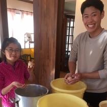 *味噌作り体験一例/樽に保管し8ヵ月後に完成です♪