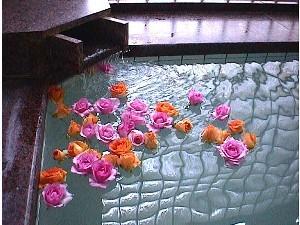 ホテルプラトン女湯金曜限定薔薇風呂