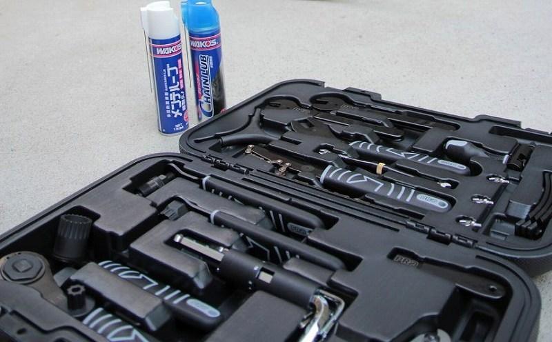 チャリ旦那愛用の工具、空気圧確認可能な空気入れのレンタルが可能です