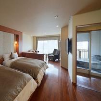 ◆秀峰館最上階展望風呂付グランドツイン