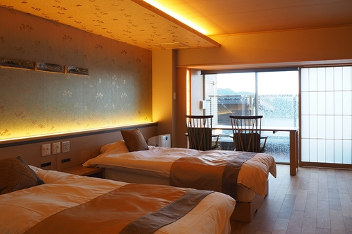 【新客室】洋室 温泉風呂付きバリアフリー(お部屋食)【禁煙】