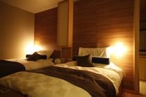 別邸「水の星」、シモンズ製ベットで快適な眠りを