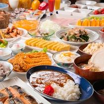 ★エリア最大★【50種以上】のバイキング朝食。写真に納まりきらないほど!