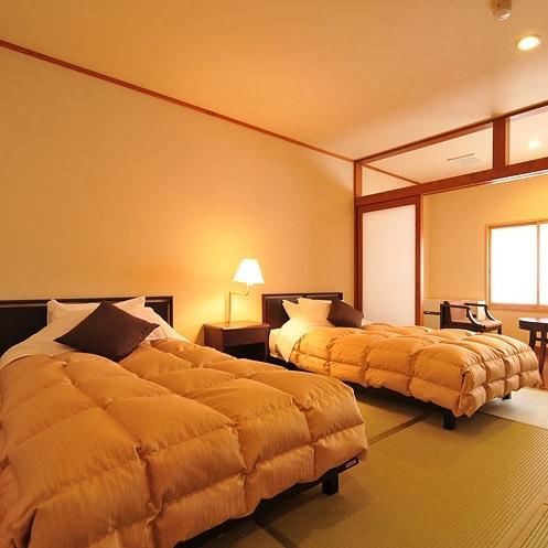 【和洋室】ツインベッドルーム/和室11畳・ツインベッドルーム
