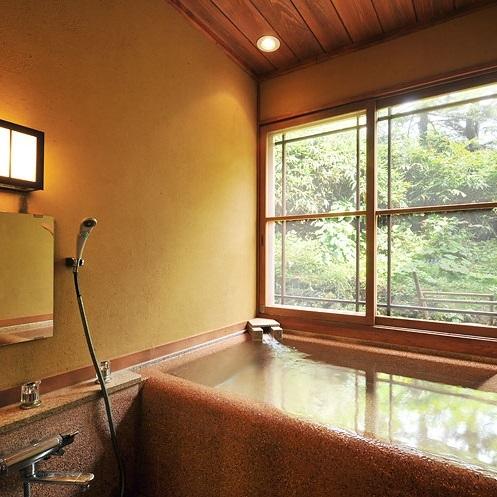 【本館 特別室 山吹】半露天風呂/和室10畳・ツインベッドルーム・半露天風呂