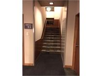 花館5階客室まで、階段を約40段上ります。