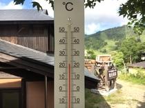 万座温泉は、平均気温22℃で大変涼しい