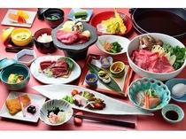 上州牛すき焼き和食膳一例