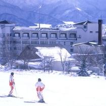 *【猪苗代スキー場】歩いて0分!滑った後もすぐに宿に到着!温泉&旬のお料理でほっこり♪