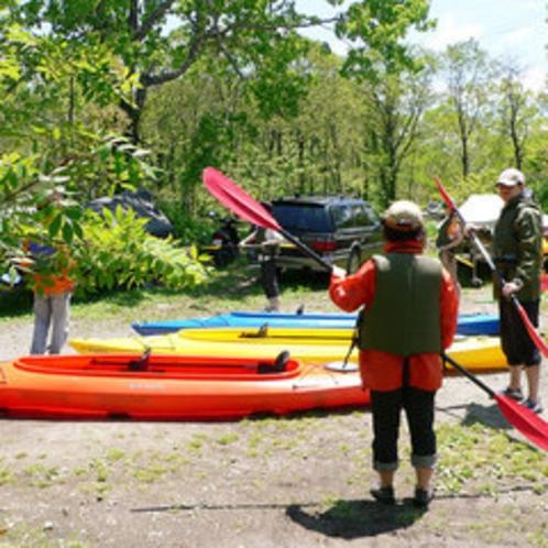 *【カヌー体験】準備運動をしっかりして、カヌー体験を楽しもう!