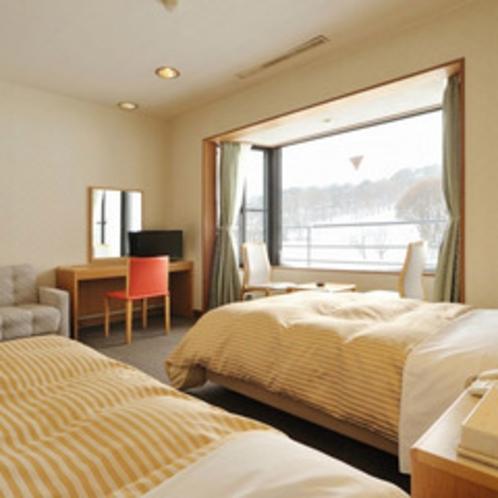 *【東館】デラックスツイン(一例)最上階から眺める磐梯山は絶景です!
