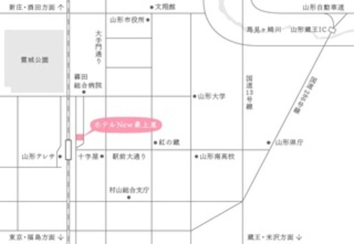 山形市街地の地図